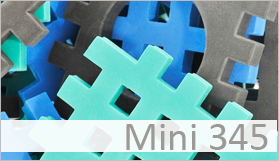 MINI 345 - Graphit, green, blue